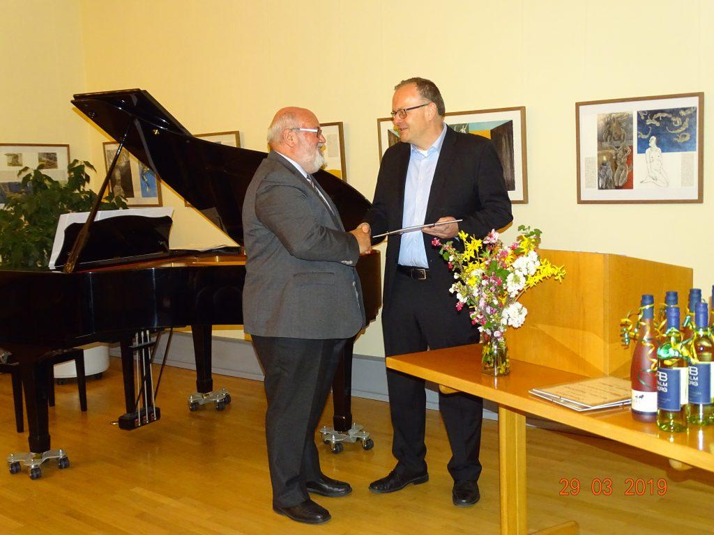 Ehrung von Altbürgermeister und Ehrenbürger Norbert Buch